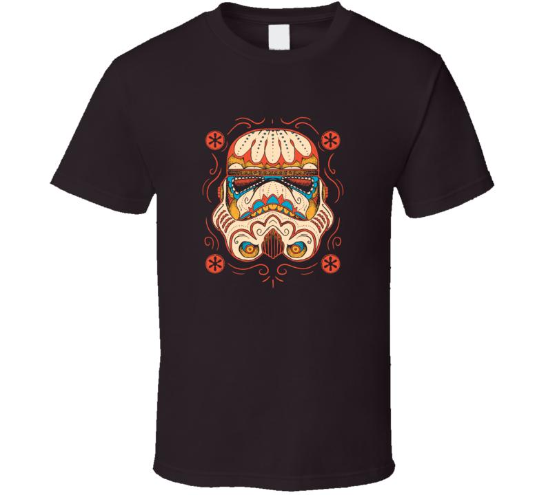 Sugar Skull Trooper Funny Star Wars Mardi Gras Style Movie Fan T Shirt