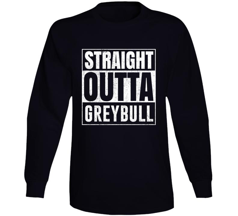 Straight Outta Greybull Wyoming City Grunge Parody Cool Long Sleeve T Shirt