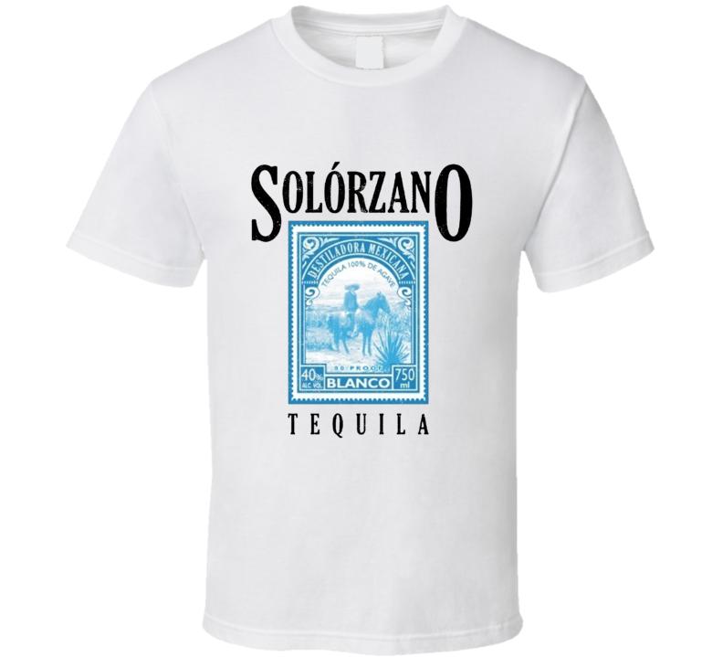 Solorzano Tequila Mexican Made Popular Liquor Distressed Look T Shirt