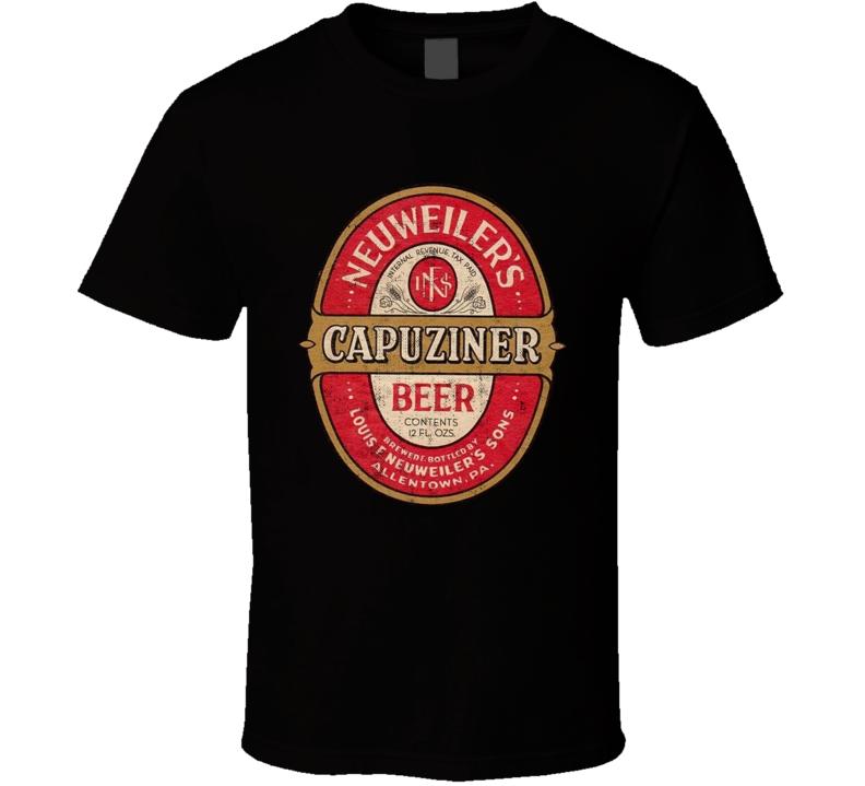 Neuweilers Capuziner Beer Vintage 1940s Beer Label T Shirt
