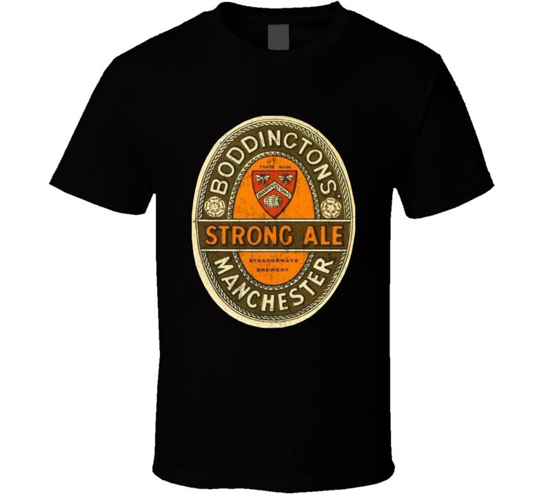 Boddingtons Strong Ale Manchester Vintage Beer Label T Shirt