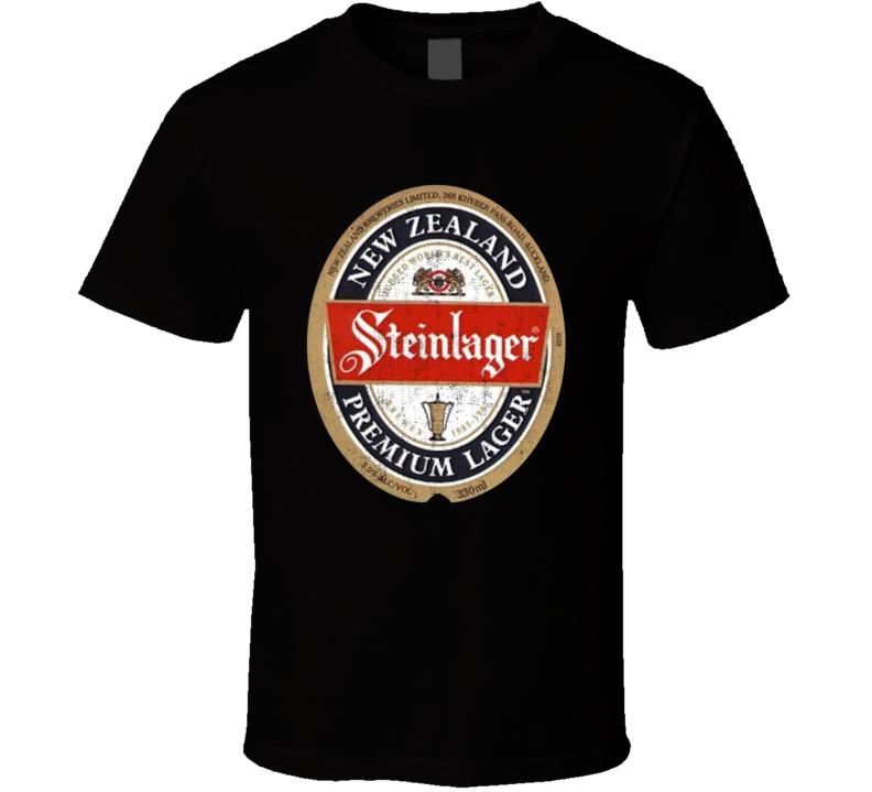 Steinlager Premium Lager New Zealand All Blacks Supporter Retro Label T Shirt