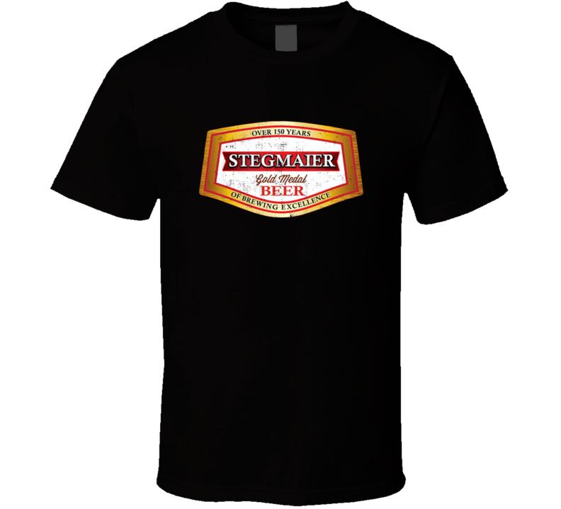 Stegmaier Gold Medal Beer Distressed Look Beer Lovers T Shirt