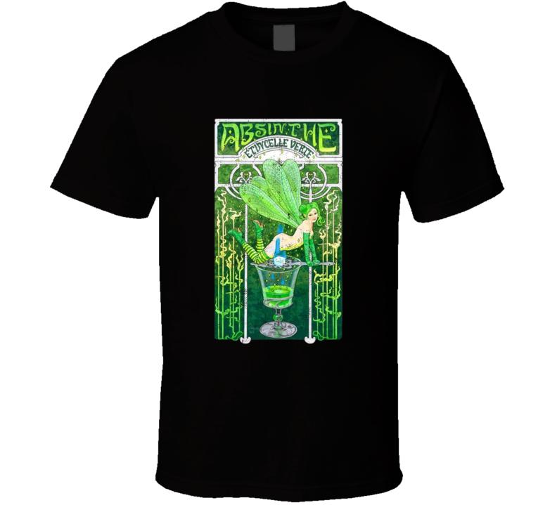 Absinthe The Green Fairy Distressed Poster Art Spirit Lovers T Shirt