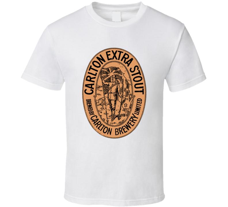 Carlton Extra Stout Australia Vintage Beer Bottle Label T Shirt