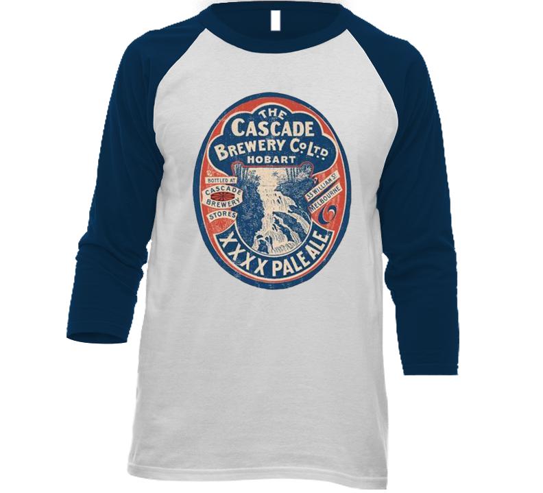Cascade Brewery Xxxx Pale Ale Vintage Beer Bottle Label Raglan T Shirt