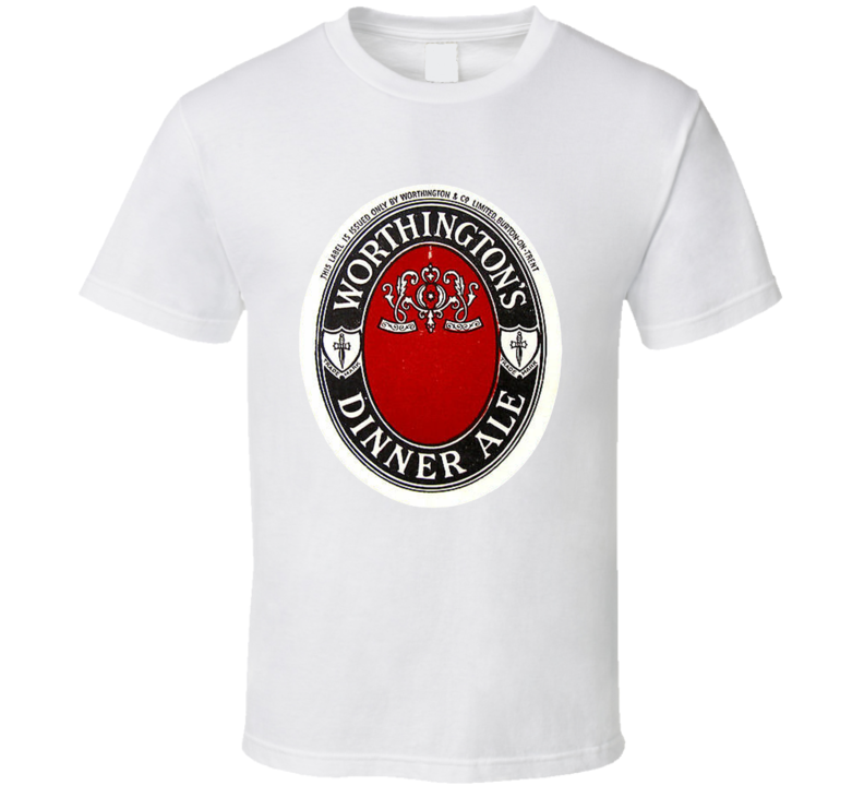 Worthingtons Dinner Ale England Vintage Beer Bottle Label T Shirt