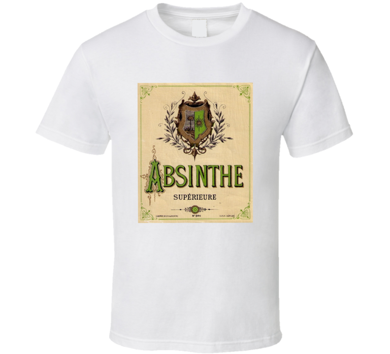 Absinthe Superieure Antique Bottle Label Alcohol Lovers T Shirt
