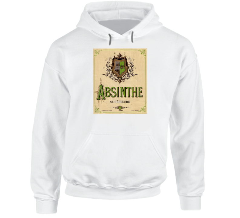 Absinthe Superieure Antique Bottle Label Alcohol Lovers Hoodie