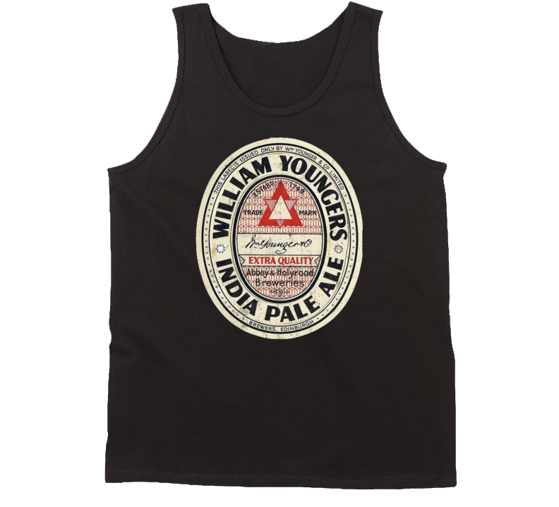 William Youngers India Pale Ale Vintage Beer Bottle Label Tanktop