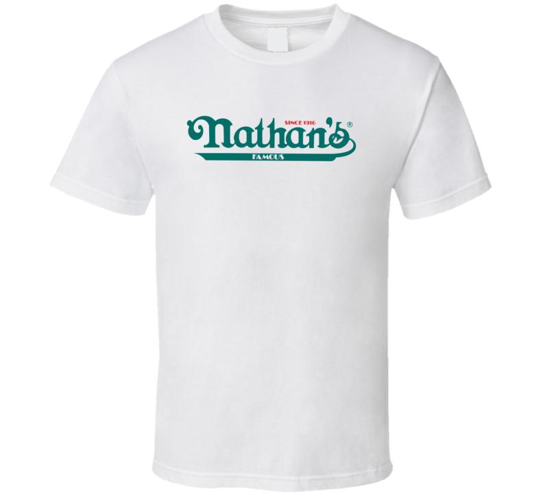 Nathan's Famous Inc Nasdaq Company Logo Employee Fan T Shirt