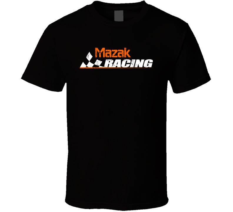 Mazak Racing Automobile Car Parts Cool Distressed Style Brand Logo Emblem Cool T Shirt