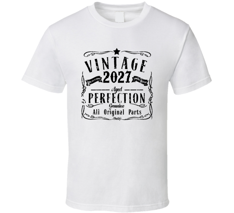 2027 Vintage One Of A Kind Perfection Liquor Logo Parody T Shirt