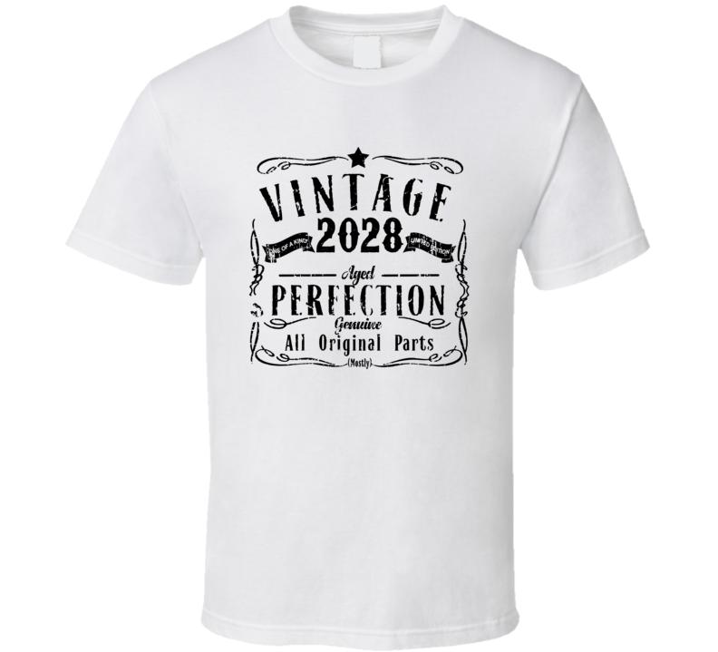 2028 Vintage One Of A Kind Perfection Liquor Logo Parody T Shirt