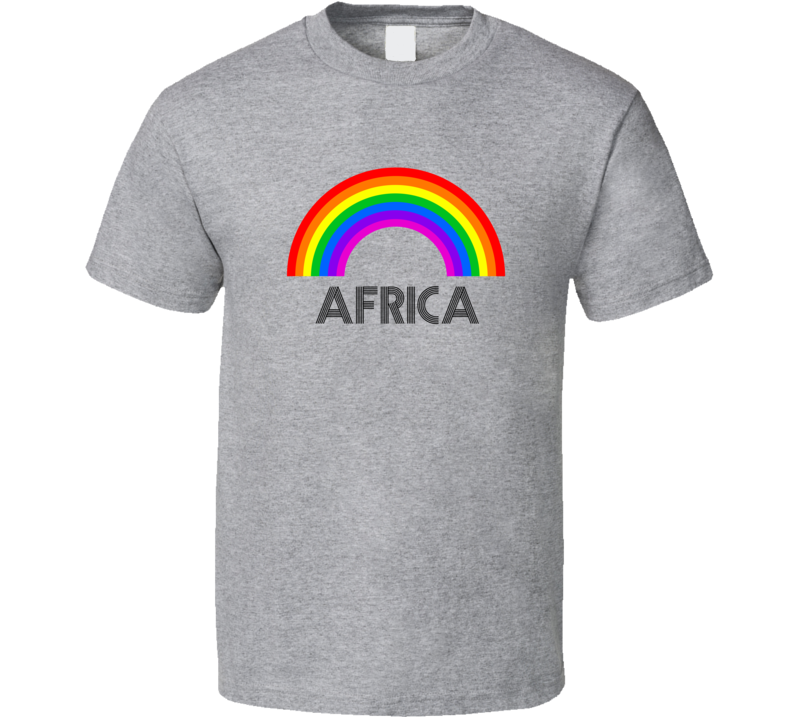 Africa Rainbow City Country State Pride Celebration T Shirt