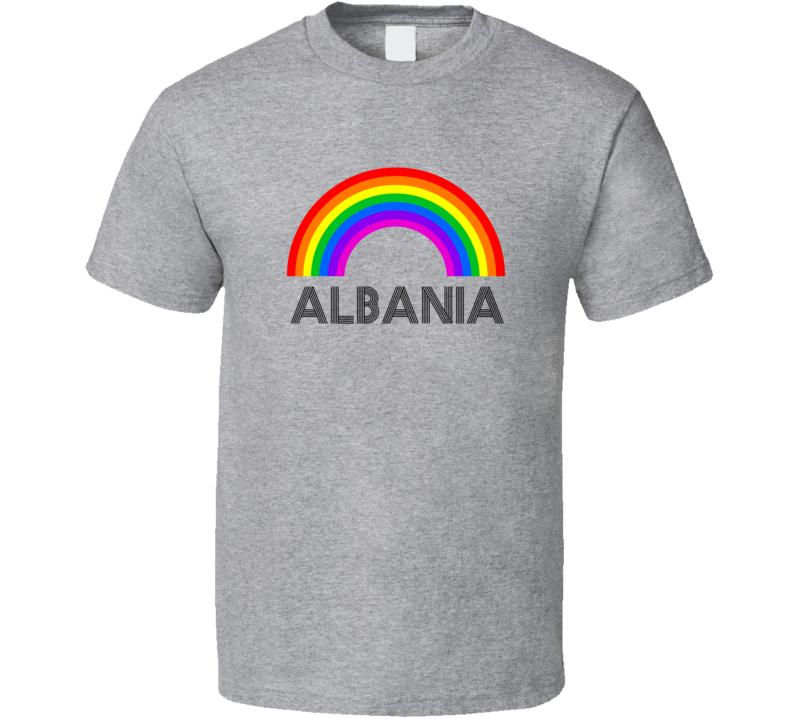 Albania Rainbow City Country State Pride Celebration T Shirt