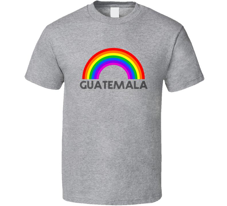 Guatemala Rainbow City Country State Pride Celebration T Shirt