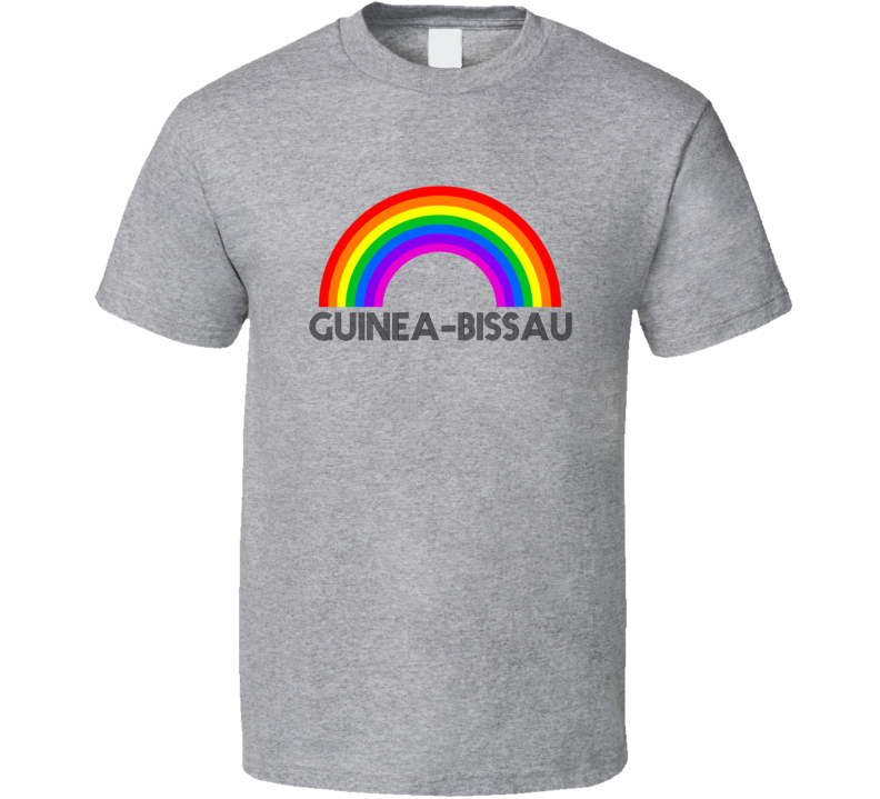 Guinea-bissau Rainbow City Country State Pride Celebration T Shirt