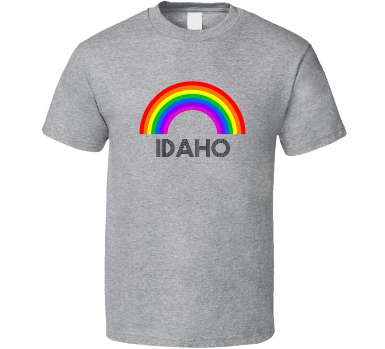 Idaho Rainbow City Country State Pride Celebration T Shirt