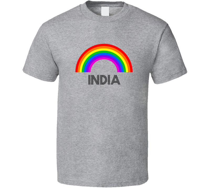 India Rainbow City Country State Pride Celebration T Shirt