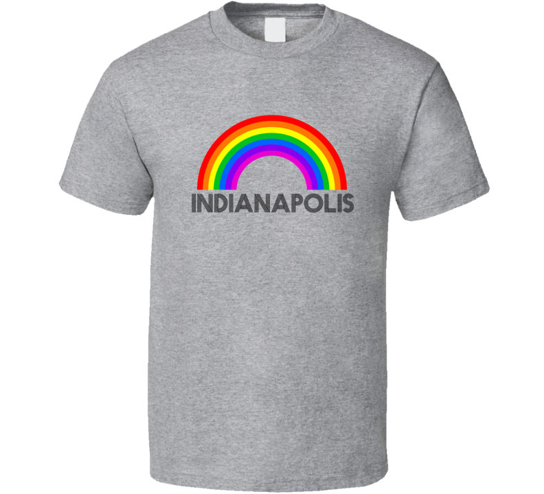 Indianapolis Rainbow City Country State Pride Celebration T Shirt