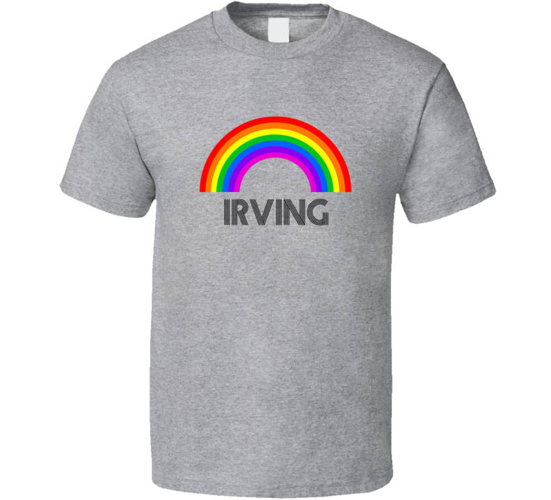 Irving Rainbow City Country State Pride Celebration T Shirt