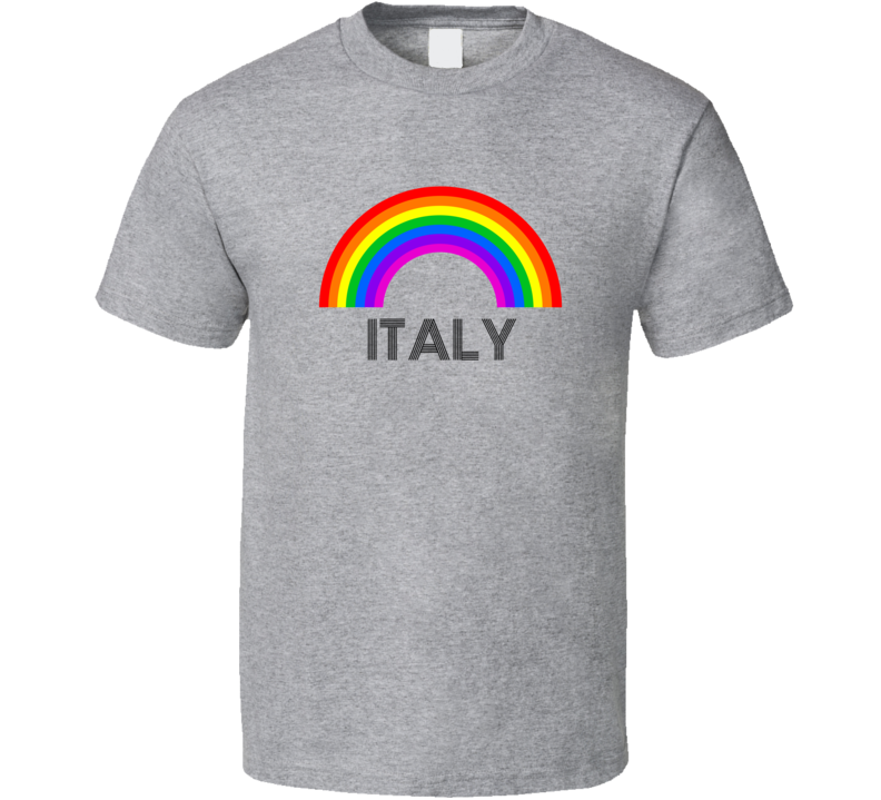 Italy Rainbow City Country State Pride Celebration T Shirt