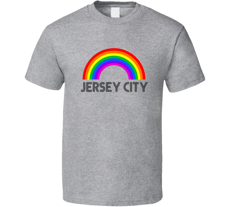 Jersey City Rainbow City Country State Pride Celebration T Shirt