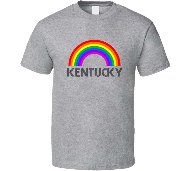 Kentucky Rainbow City Country State Pride Celebration T Shirt
