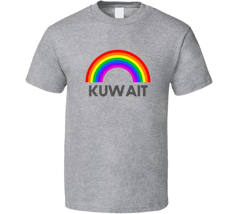 Kuwait Rainbow City Country State Pride Celebration T Shirt