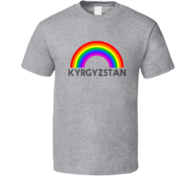 Kyrgyzstan Rainbow City Country State Pride Celebration T Shirt