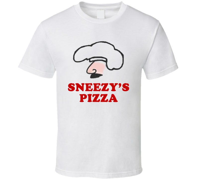 Sneezys Pizza Married With Children Fun Popular TV Show T Shirt