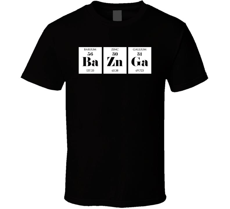 Bazinga Funny Big Bang Theory Periodic Table T Shirt