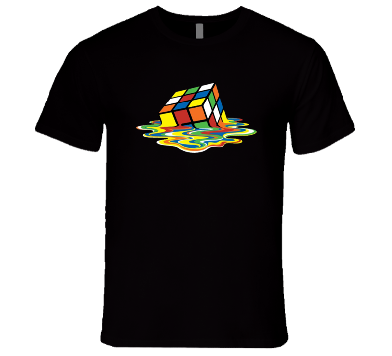 Melting Rubiks Cube Fun Sheldon Cooper Big Bang Theory TV Show T Shirt