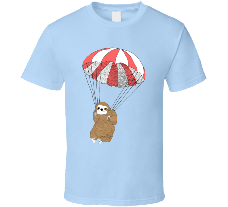 Parachuting Sloth Community Fun TV Show T Shirt