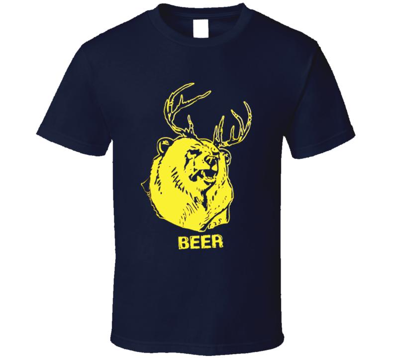 Bear Deer Beer Fun It's Always Sunny in Philadelphia TV Show T Shirt