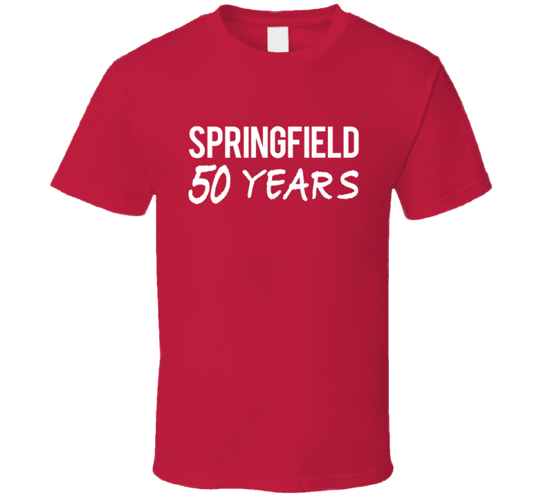 Springfield 50 Years Popular TV Show T Shirt