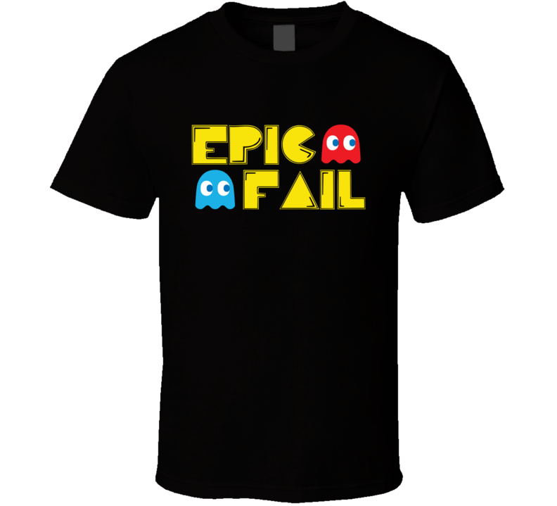 PacMan Epic Fail Popular Life Partners Movie T Shirt