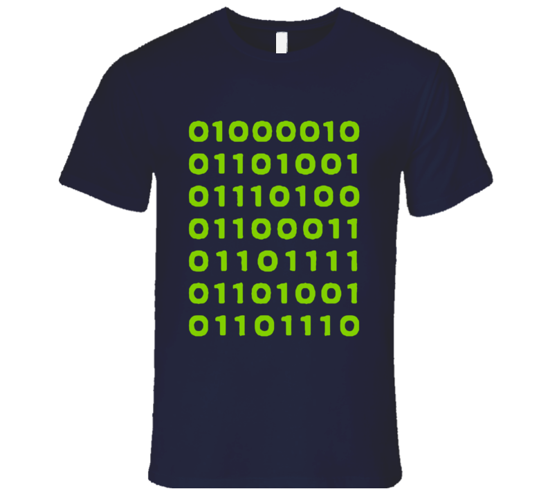 Bitcoin In Binary Fun Silicon Valley Popular TV Show T Shirt