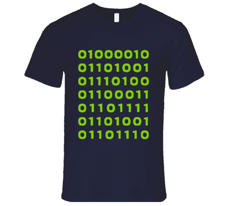 Bitcoin In Binary Fun Silicon Valley Popular TV Show T Shirt
