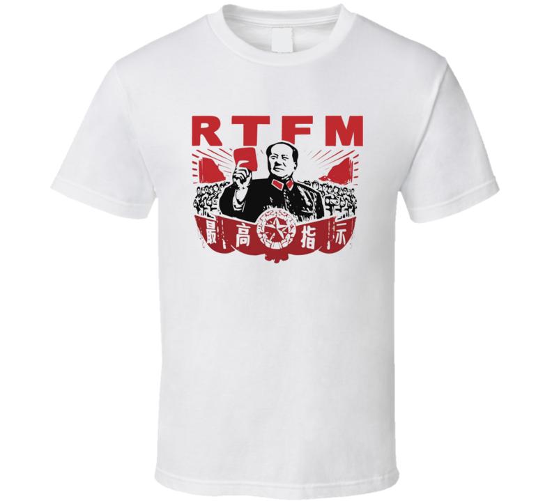 Chairman Mao RTFM The IT Crowd Popular TV Show T Shirt