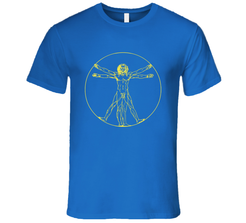 Da Vinci Vitruvian Man Fun Sheldon Cooper Big Bang Theory TV Show T Shirt