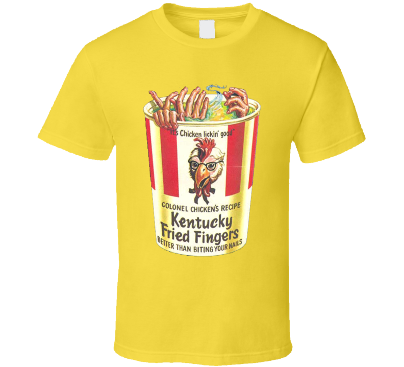 Kentucky Fried Fingers Funny The Bad News Bears 70s Movie T Shirt