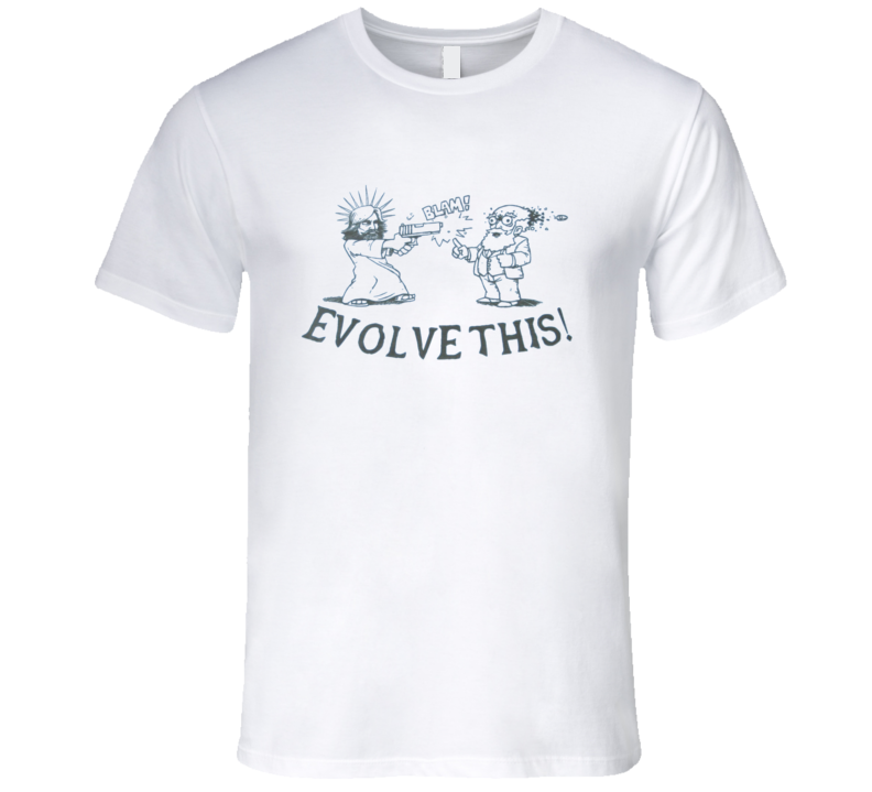 Evolve This Funny Jesus Charles Darwin Paul Popular Movie T Shirt