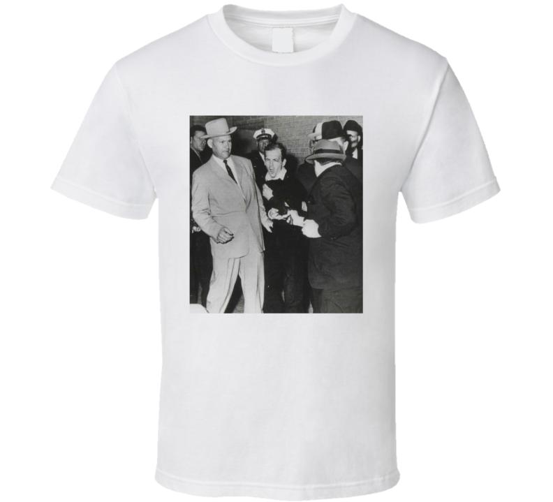 Jack Ruby Shooting Lee Harvey Oswald Fun Slacker Movie T Shirt