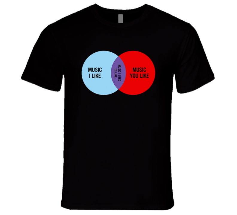 Music I Like Music You Like Venn Diagram Fun The IT Crowd Show T Shirt