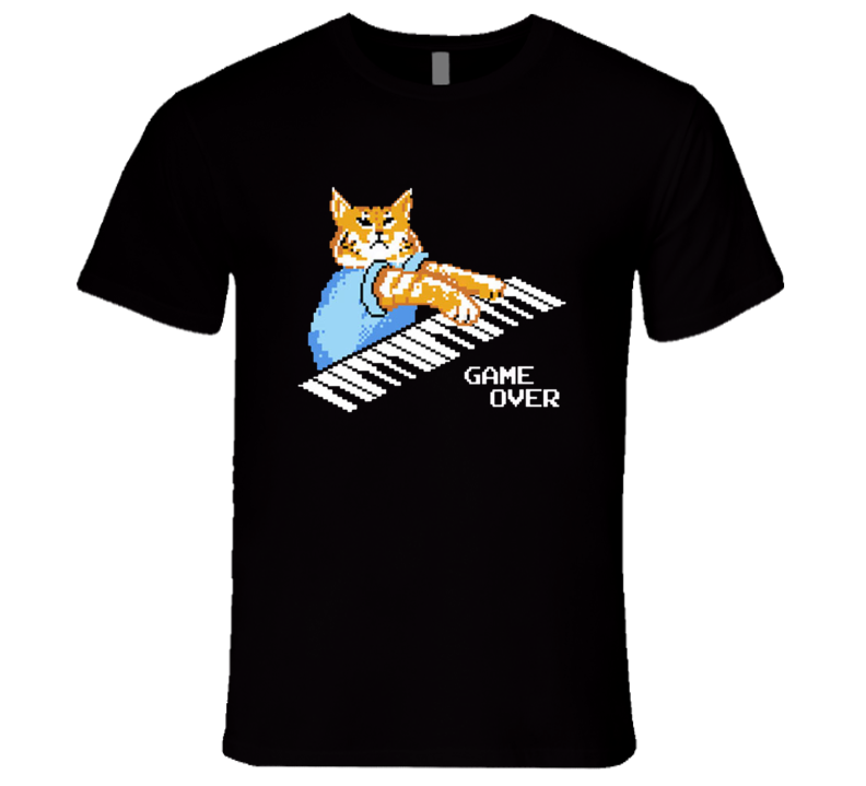 Game Over Keyboard Cat Fun The IT Crowd Popular TV Show T Shirt