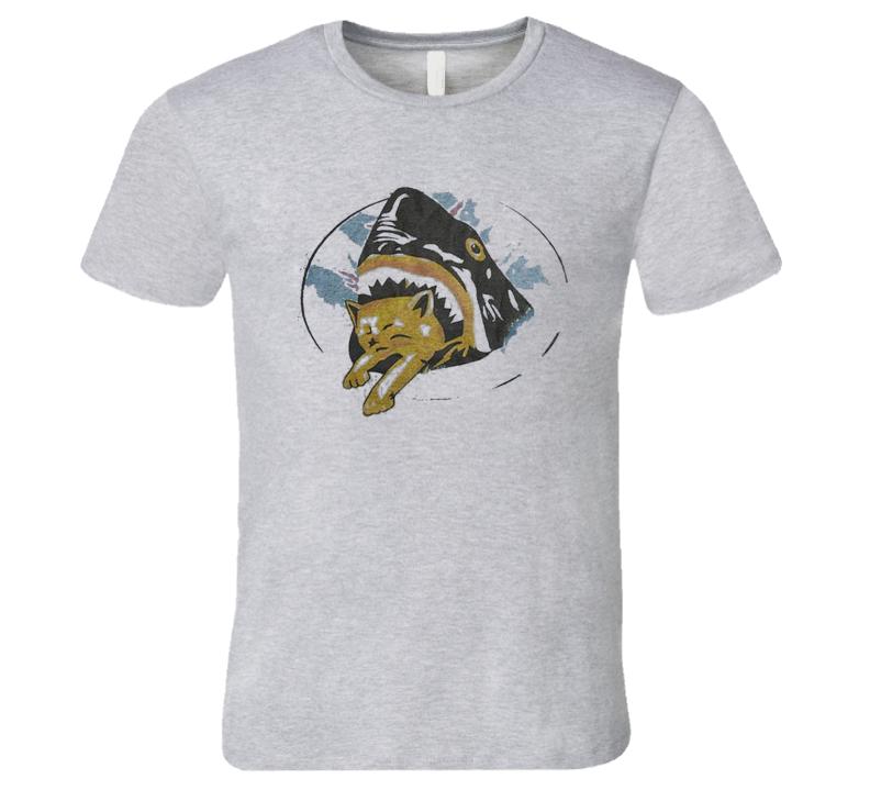 Shark Eating A Cat Fun Pineapple Express Popular Movie T Shirt