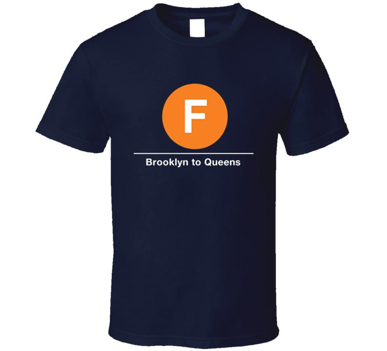 F train Brooklyn to Queens Fun Bring It On Popular Movie T Shirt
