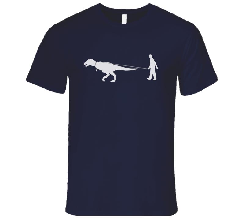 Man Walking T Rex Dinosaur Fun Raising Hope Popular TV Show T Shirt
